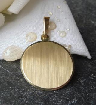monischmuck mode anh nger gravurplatte rund 19mm 8kt gold. Black Bedroom Furniture Sets. Home Design Ideas